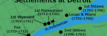 Bands of Potawatomi Settle at Fort Pontchartrain on the Detroit River