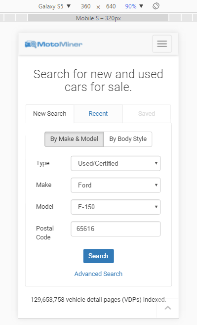 Chrome Device Mode looks much cleaner and simpler than previous.