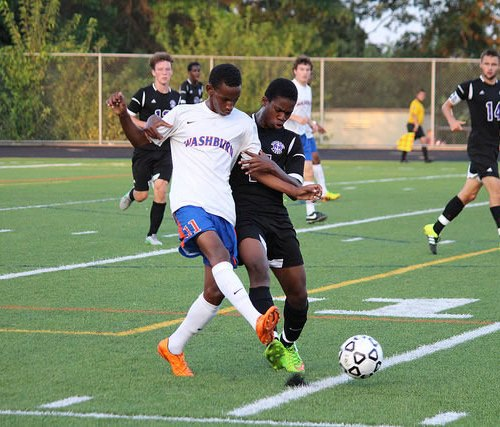 Washburn soccer player Adan Hassan in action against Minneapolis Southwest