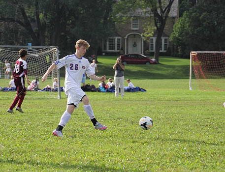 Washburn soccer B squad in action against Nova Classical Academy