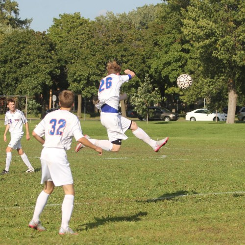 Washburn B squad soccer in action against Minneapolis Southwest