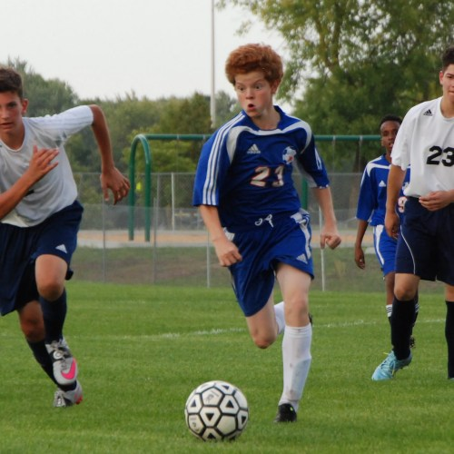 Washburn soccer C squad in action against Robbinsdale Cooper