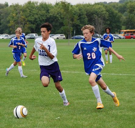 C Squad Washburn soccer player Jackson Whitman