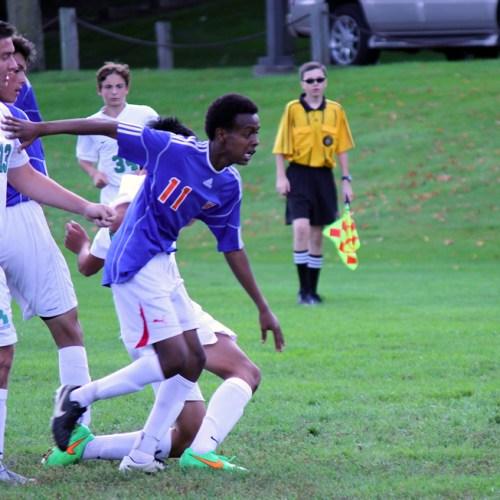 Washburn junior varsity soccer in action against Blake Bears