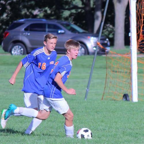 Washburn junior varsity soccer player Elliot Nelson