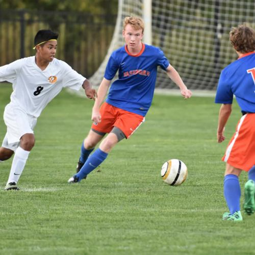 Washburn varsity soccer player Kevin Lowen