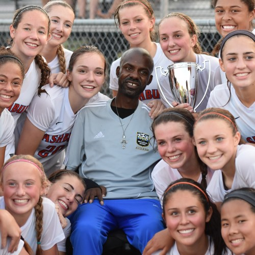 Washburn Girls Varsity with John Sylvester at Sylvester Cup 2015
