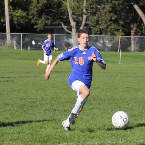 Washburn soccer player Max Dodge
