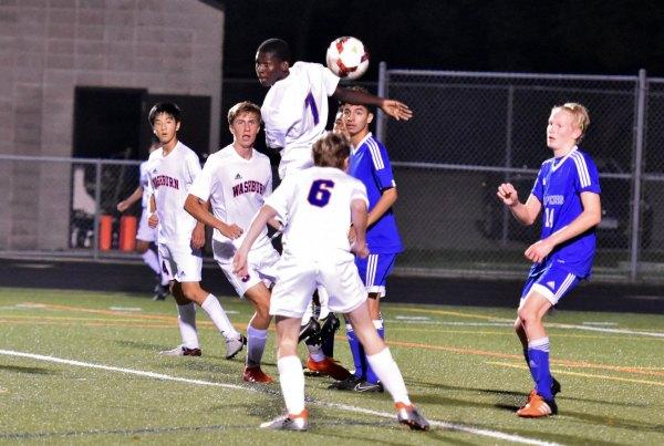 Washburn varsity soccer player Darley Florvil