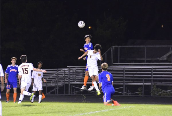Washburn varsity soccer in action against Minneapolis Roosevelt