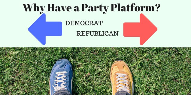 Why have a party platform, image with two color shoes
