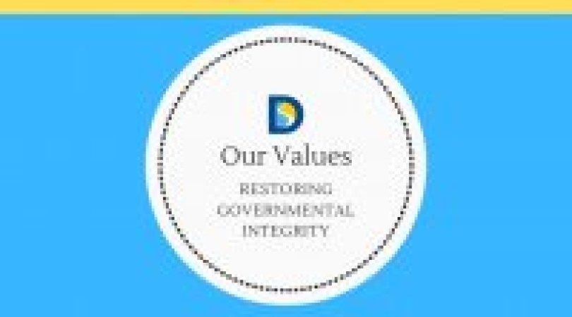 article series logo restoring governmental integrity