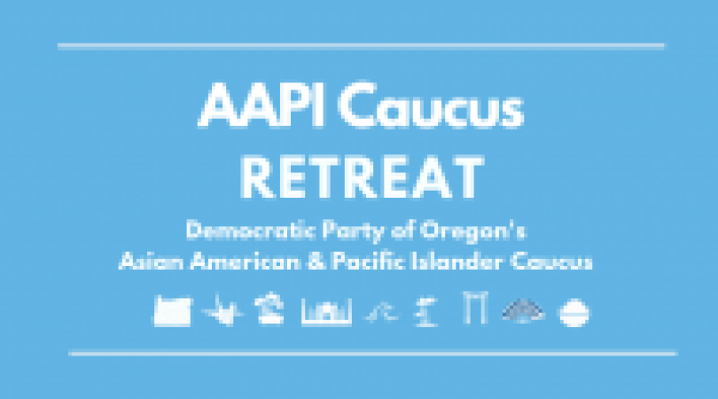 image with text AAPI Caucus retreat