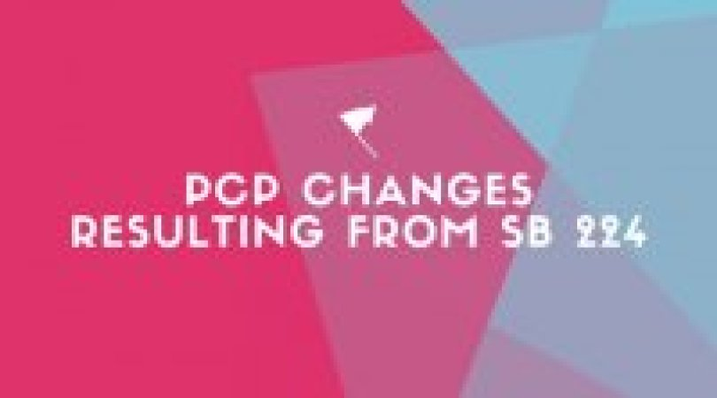 PCP Changes Resulting from SB 224
