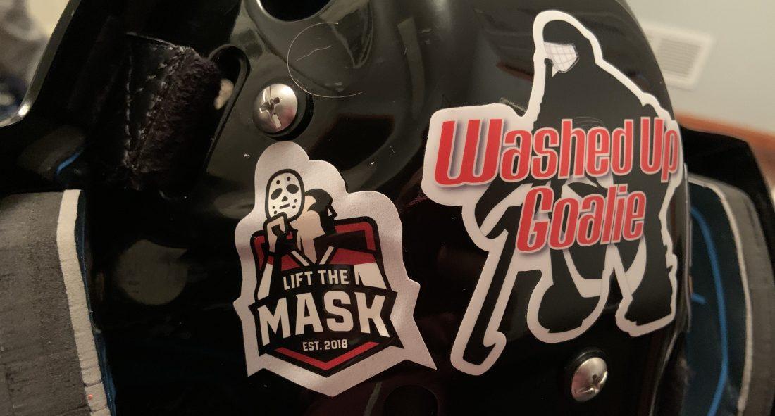 Washed Up Goalie Lift the Mask ambassador