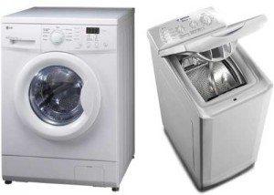 Çamaşır makinesinin önden ve dikey olarak yüklenmesi