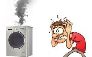 Çamaşır makinesinden duman