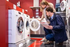 Satın alma sırasında çamaşır makinesi muayenesi