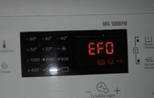Electrolux çamaşır makinesinde EFO hatası