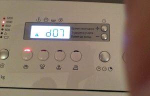 Bosch çamaşır makinesinde d07 hatası