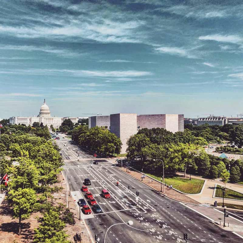 @christemmi - View of Pennsylvania Avenue and the U.S. Capitol from the Newseum - Where to get the best views in Washington, DC