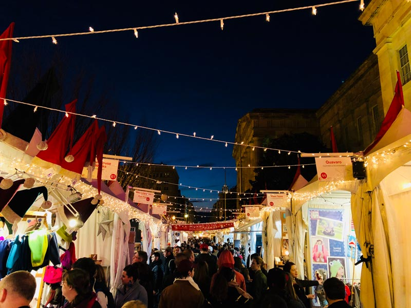 Nighttime Shopping at the Downtown Holiday Market - Christmas and Holiday Market in Washington, DC
