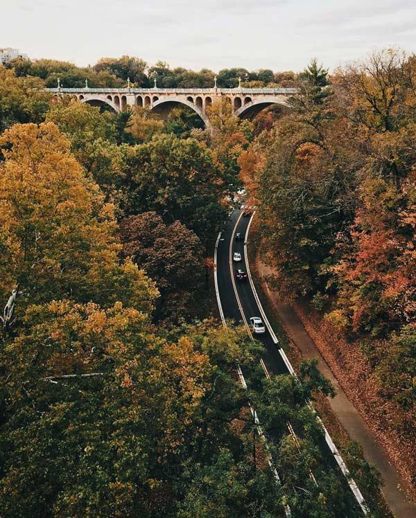 @mattschmalzel - Fall foliage along Rock Creek Parkway - Things to do this fall in Washington, DC