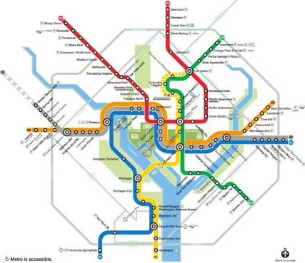 Image result for d c metro map