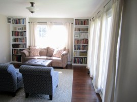 New custom built-in bookcases in the living room