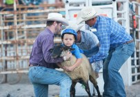 Mutton Buster Teagen Reed Friday rodeo