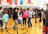 Fourth grade students perform an intersection dance.