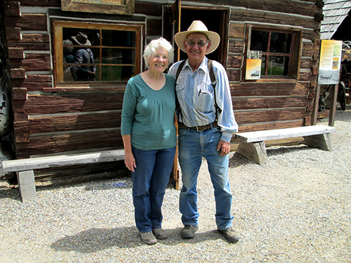 Carl and Roxie Miller with the Shafer Museum