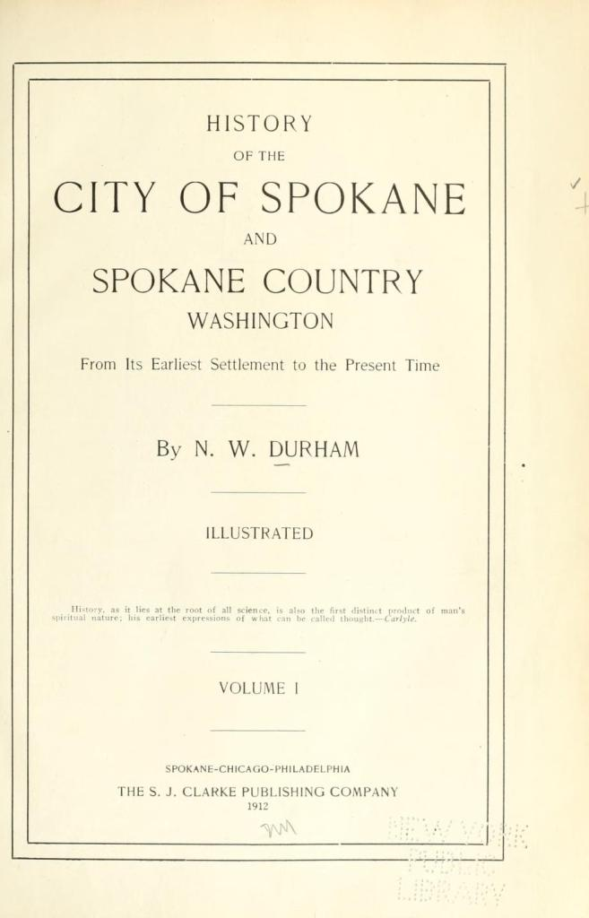History of the city of Spokane and Spokane County, Washington