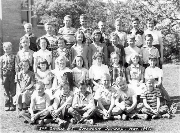 Emerson Elementary School Third Grade Class, May 1951