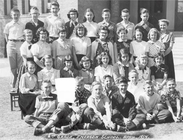 Emerson Elementary School Sixth Grade Class, April 1954