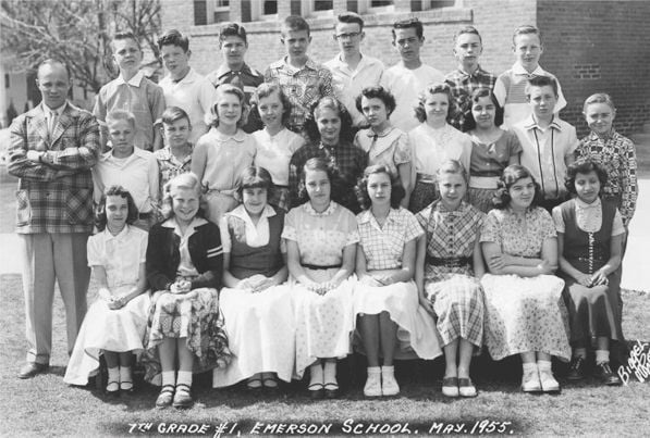 Emerson Elementary School Seventh Grade Class, May 1955