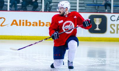 Capitals forward Garrett Pilon