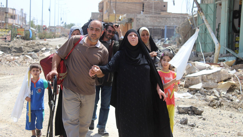 10,000 families trapped in Falluja