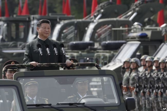 Chinese Military might on display in Hong Kong for Xi