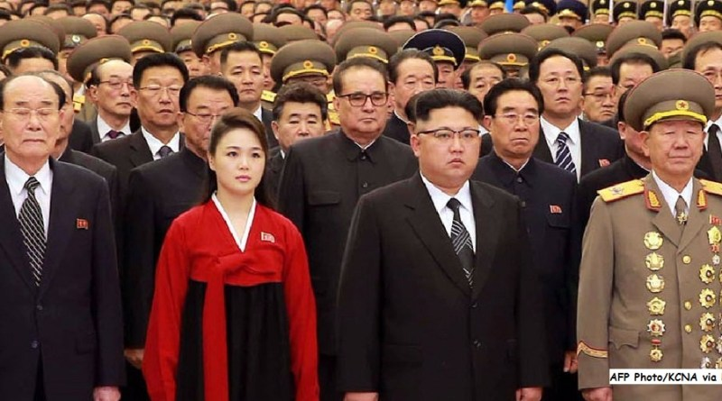 Kim jong un and Ri Sol Ju