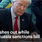Trump lashes out while signing Russia sanctions bill
