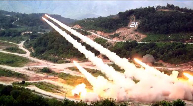 North Korea mocks military drill