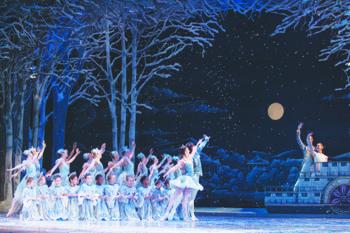 "Krislynn Perry and the Ensemble in The Washington Ballet's performance of ""The Nutcracker."" (Theo Kossenas)"