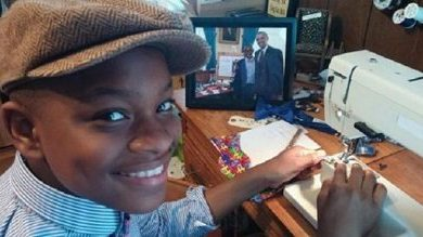 Moziah Bridges, a 13-year-old from Memphis, runs his own handmade bow-tie company. (Courtesy of Mo's Bows