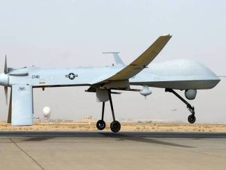 """This undated US Air Force photo shows an MQ-1 Predator unmanned aircraft as it prepares for takeoff in support of operations in Southwest Asia. Iranian fighter jets fired on an unarmed US drone in the Gulf last week and missed, the Pentagon said November 8, 2012, warning that the United States stood ready to protect its forces in the region. """"They intercepted the aircraft and fired multiple rounds,"""" spokesman George Little told a news conference. The US military plane was """"never in Iranian air space"""" and came under fire on November 1 from SU-25 fighters off the Iranian coast over international waters, he said. The MQ-1 Predator, a turboprop plane that flies at a much slower speed than the fighter jets, was pursued further by the Iranian warplanes but not fired on again. The Predator later returned safely to an unspecified military base in the region, Little said. The Predator was intercepted about 16 nautical miles off the Iranian coast, beyond Iran's territorial waters that extend 12 nautical miles off the country's shore, he added. = RESTRICTED TO EDITORIAL USE - MANDATORY CREDIT """" AFP PHOTO / US AIRFORCE/JULIANNE SHOWALTER/"""" - NO MARKETING NO ADVERTISING CAMPAIGNS - DISTRIBUTED AS A SERVICE TO CLIENTS = JULIANNE SHOWALTER/AFP/Getty Images ** TCN OUT **"""