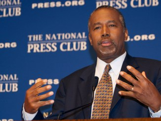 Ben Carson recently endorsed Republican frontrunner Donald Trump. This photo of Ben Carson was taken during a discussion on gun control and his new book at the National Press Club in Washington, D.C. in October 2015. (Nancy Shia/Washington Informer/NNPA)