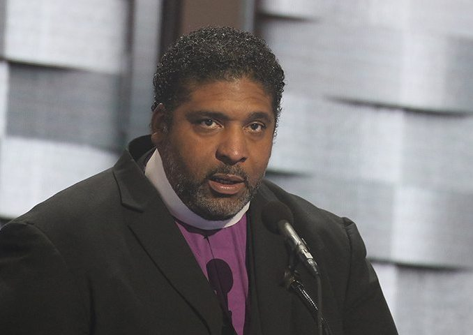 Reverend William Barber, the president of the North Carolina State Conference of the NAACP speaks at the Democratic National Convention in Philadelphia, Pa. (Shevry Lassiter/The Washington Informer)