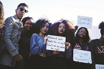 GW students led a protest last semester on campus. (Courtesy photo)