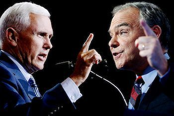 Republican Mike Pence and Democrat Tim Kaine face off in the lone scheduled vice presidential debate in Farmville, Virginia, on Oct. 4. /Courtesy photo
