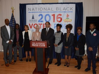 The National Newspaper Publishers Association and Howard University held a press conference to release the National Black Voter Poll at the National Press Club on Monday, Nov. 1 in Northwest. /Photo by Roy Lewis